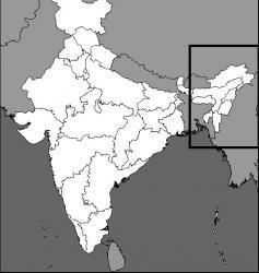 Carte nord est inde